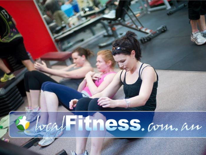Fitcity24:7 Woolloongabba Stretch and work those abs as part of a complete workout.