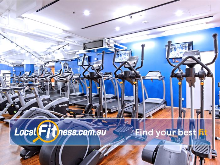 Plus Fitness 24/7 Near Woolloomooloo Treadmills, crosstrainers, cycle bikes and more.