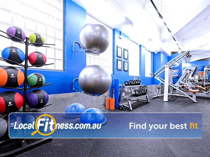 Plus Fitness 24/7 Near Strawberry Hills Dedicated abs and stretching area.