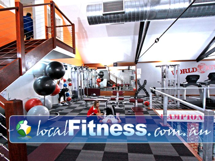 World Gym Near Rundle Mall Fully equipped with fitballs, medicine balls, stretch mats and more.