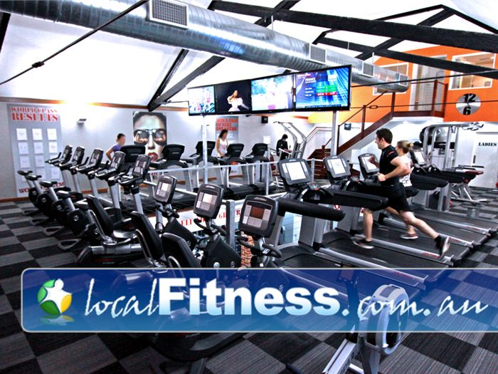 World Gym Adelaide A private state of the art cardio space overlooking the World Gym Adelaide floor.