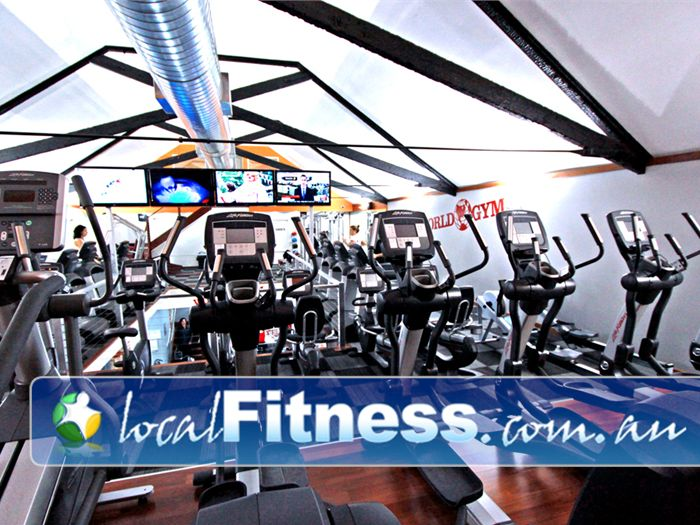 World Gym Adelaide Tune into your favorite shows while you enjoy working out.