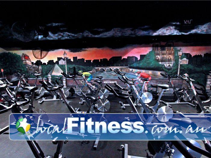 """World Gym Near Rundle Mall """"Welcome to our World"""" - World Gym Adelaide cycle studio."""