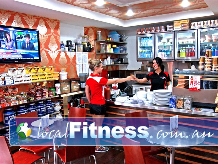 World Gym Adelaide Delicious on-site cafe with healthy foods, beverages and workout fuel.
