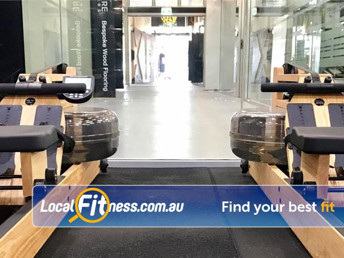 Trination Fitness 24/7 Near Moore Park State of the art rowers.