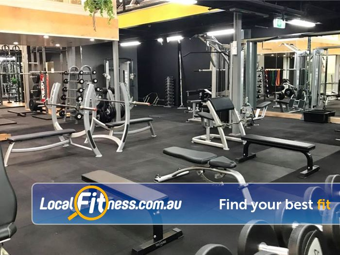 Trination Fitness 24/7 Waterloo Our Waterloo gym includes a fully equipped free-weights area.