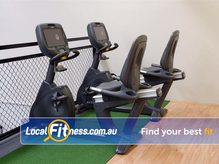 Trination Fitness 24/7 Waterloo Great views from our upper level cardio area.
