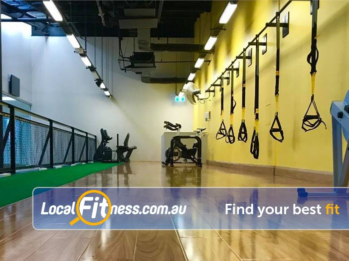 Trination Fitness 24/7 HIIT Sydney  | The dedicated functional training area at Trination Waterloo.