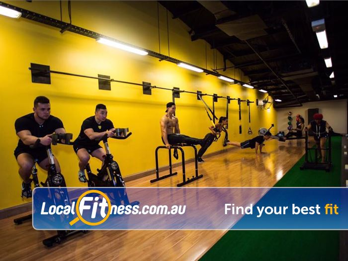 Trination Fitness 24/7 Near Moore Park Minisquad provides a personal training experience in a small group environment.