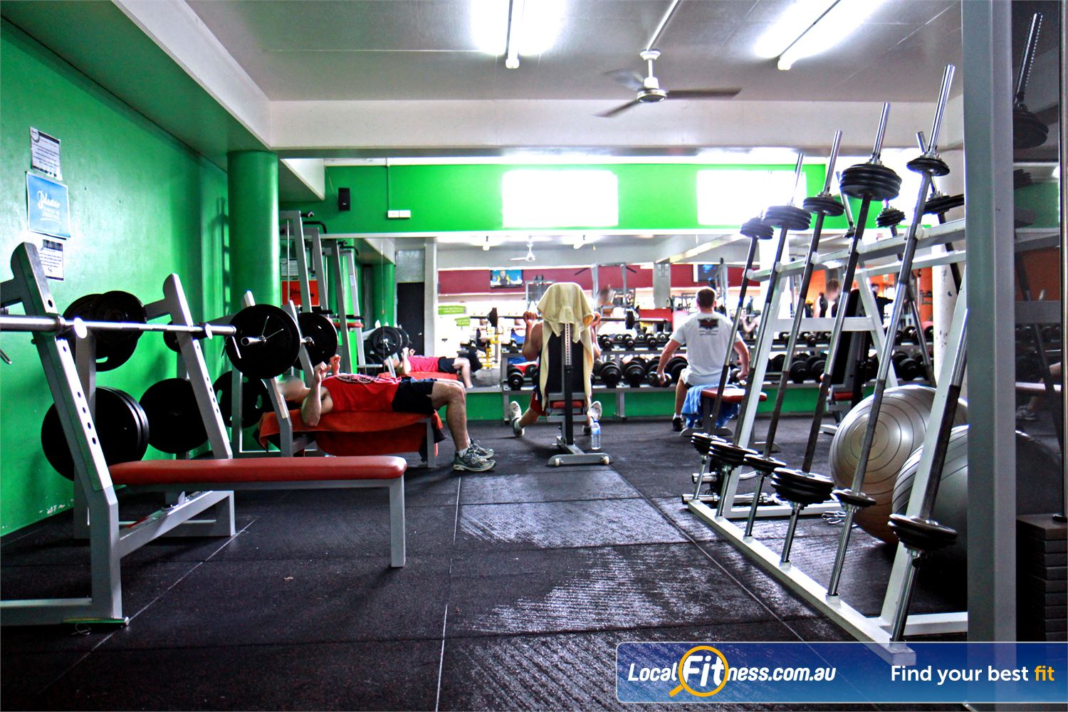 Goodlife Health Clubs Morningside Our Morningside gym includes a comprehensive range of dumbbells and barbells.