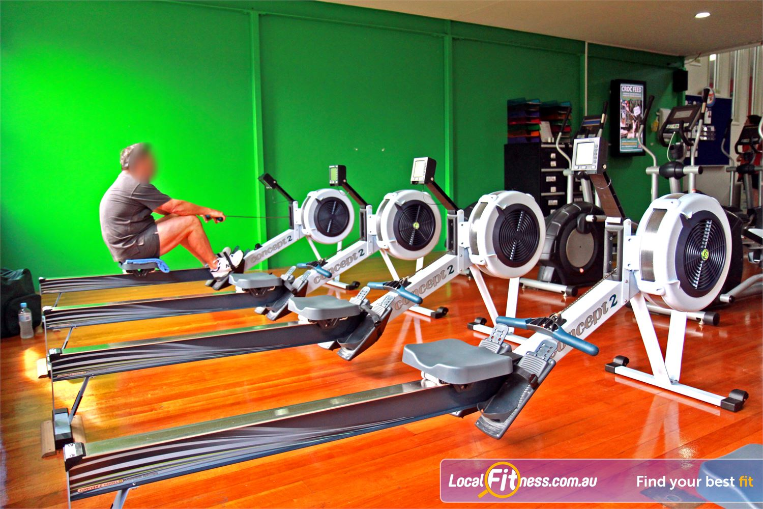 Goodlife Health Clubs Morningside Vary your cardio training with indoor rowing.