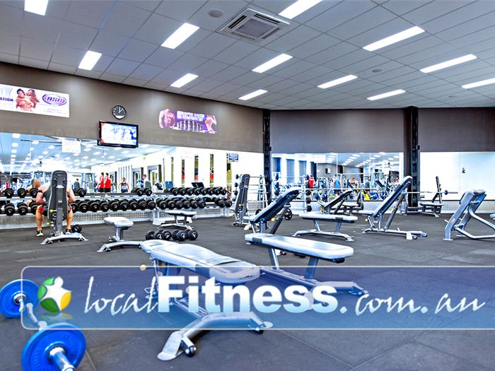 Genesis Fitness Clubs Near Speers Point Full range of dumbbell, barbell and benches.