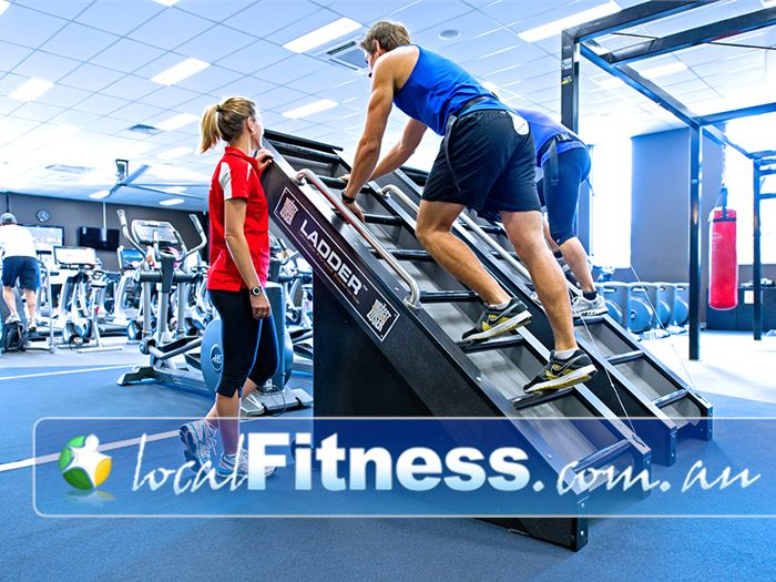 Genesis Fitness Clubs Near Macquarie Hills Vary your cardio with Jacobs ladder for an intense cardio workout.