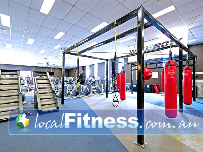 Genesis Fitness Clubs Warners Bay Dedicated Warners Bay boxing studio and functional training/crossfit area.