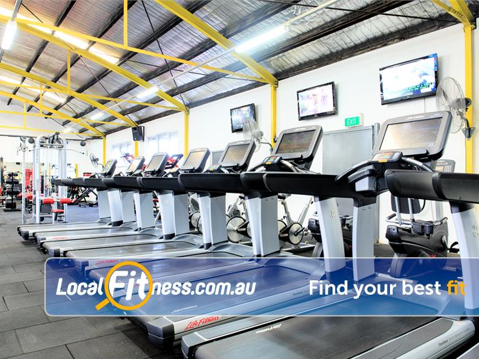 Fox Fitness Niddrie The latest treadmills with built in entertainment screens.