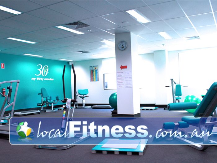 My 30 Minutes - Fitness For Busy Women Near Waverley Park Our naturally-lit fitness studio is fully equipped with state-of-the-art hydraulic machines.