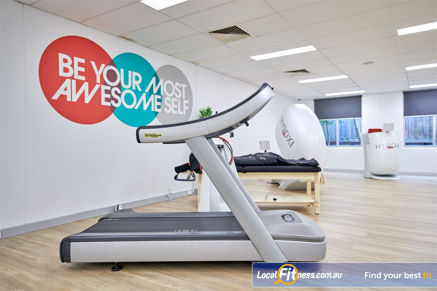HYPOXI Weight Loss Near Glen Iris Low impact exercise on the treadmill while the vacuum machines target fat loss.