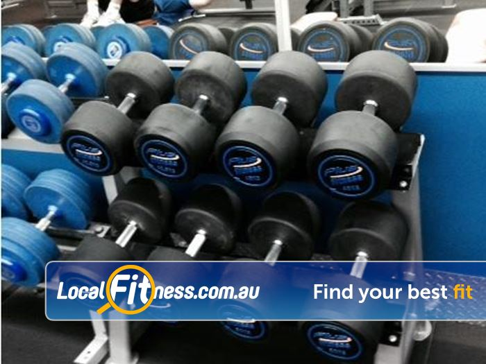 Plus Fitness 24/7 Epping Heavy dumbbells to push your training.