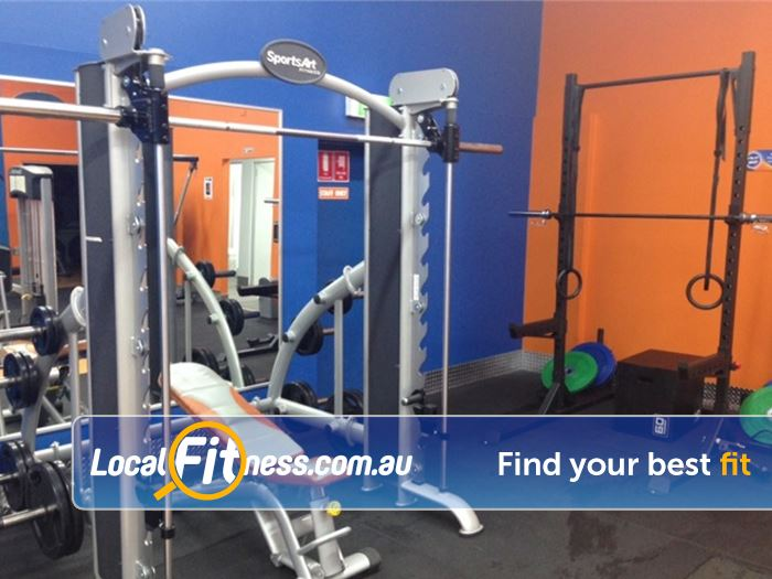 Plus Fitness 24/7 Near Marsfield Heavy duty training with our squat rack, smith machine and more.
