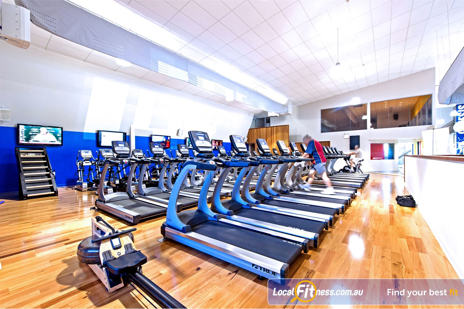 Genesis Fitness Clubs Near Merrylands Personal entertainment screens while you train.