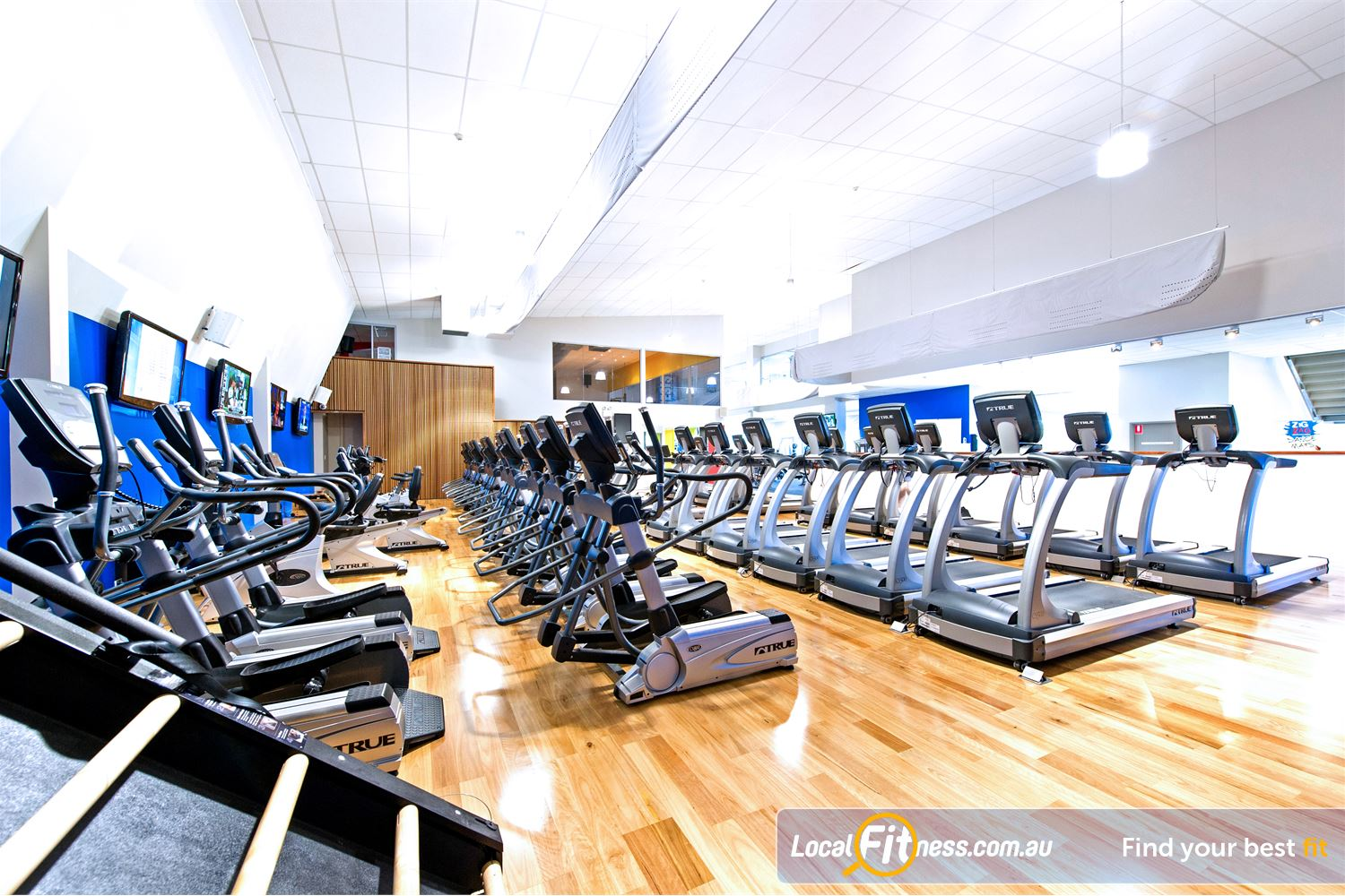Genesis Fitness Clubs Parramatta Rows of machines so you don't have to wait.