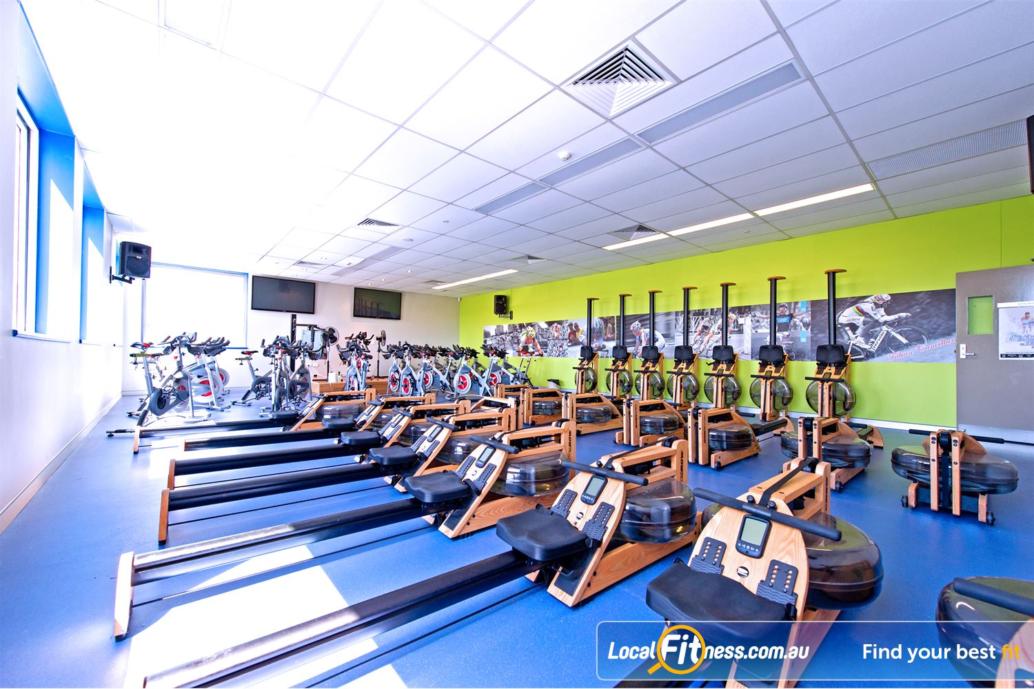 Genesis Fitness Clubs Parramatta Add variety to your workout with our rowing room.