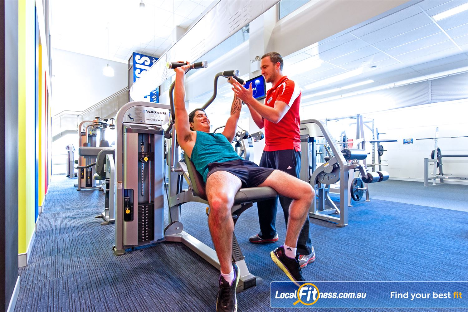Genesis Fitness Clubs Near Northmead Parramatta personal trainers can help incorporate free-weights training into your workouts.