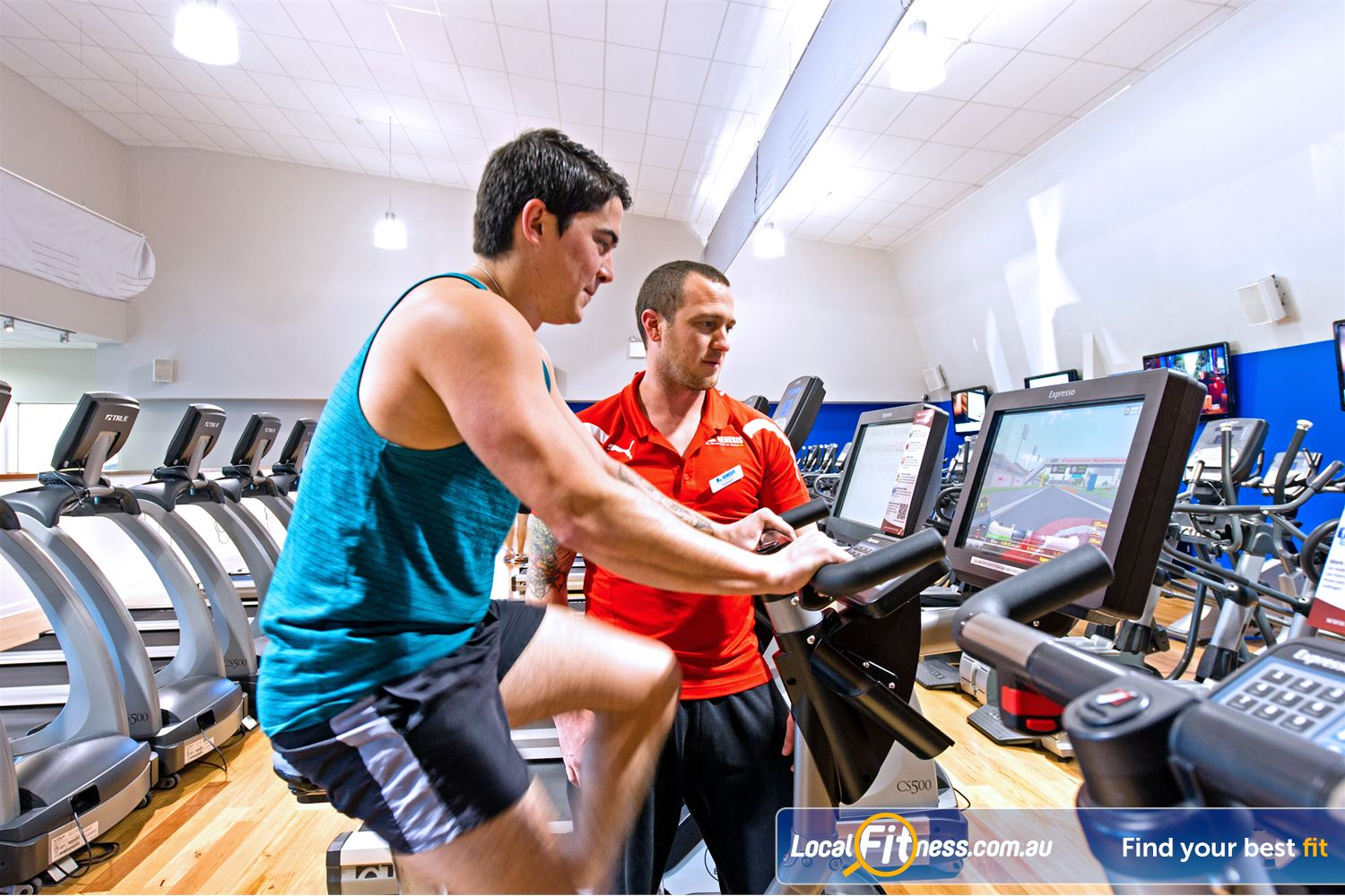 Genesis Fitness Clubs Near Merrylands Interactive Fitness with Expresso cycle bikes.
