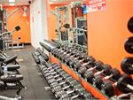 Fully equipped free-weights training zone.