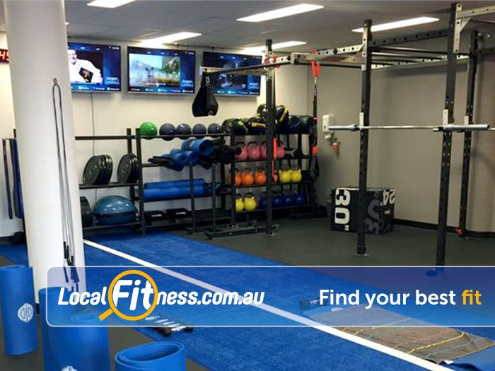 Stepz Fitness 24/7 Near Cherrybrook Indoor sled track and functional training rigg.