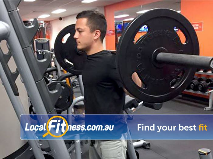 Stepz Fitness 24/7 Near North Epping Heavy duty power racks perfect for squats.