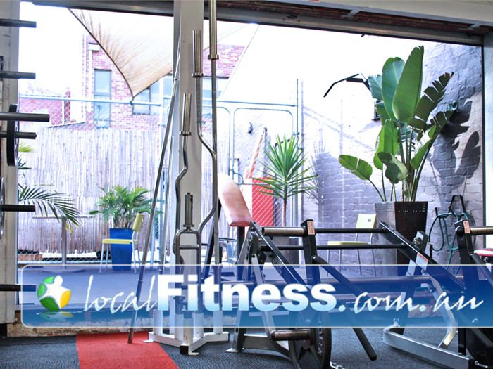 Muscle & Body Shape Gym Prahran Gym  Entrance to our outdoor courtyard.