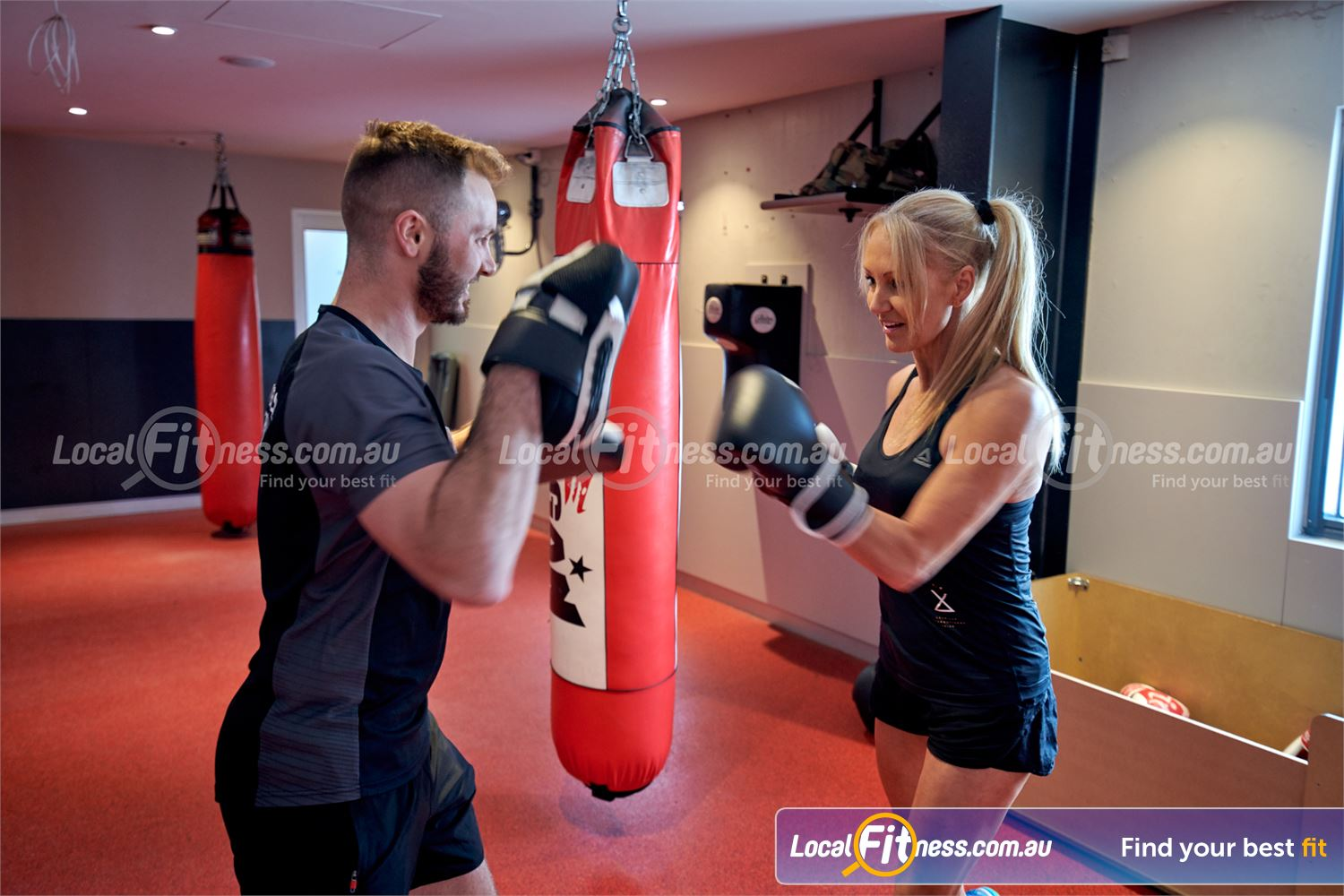 Fitness First Macquarie Near Denistone Our personal training team can take you through a Ryde boxing workout.