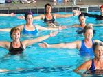 Full range of aqua classes in our group