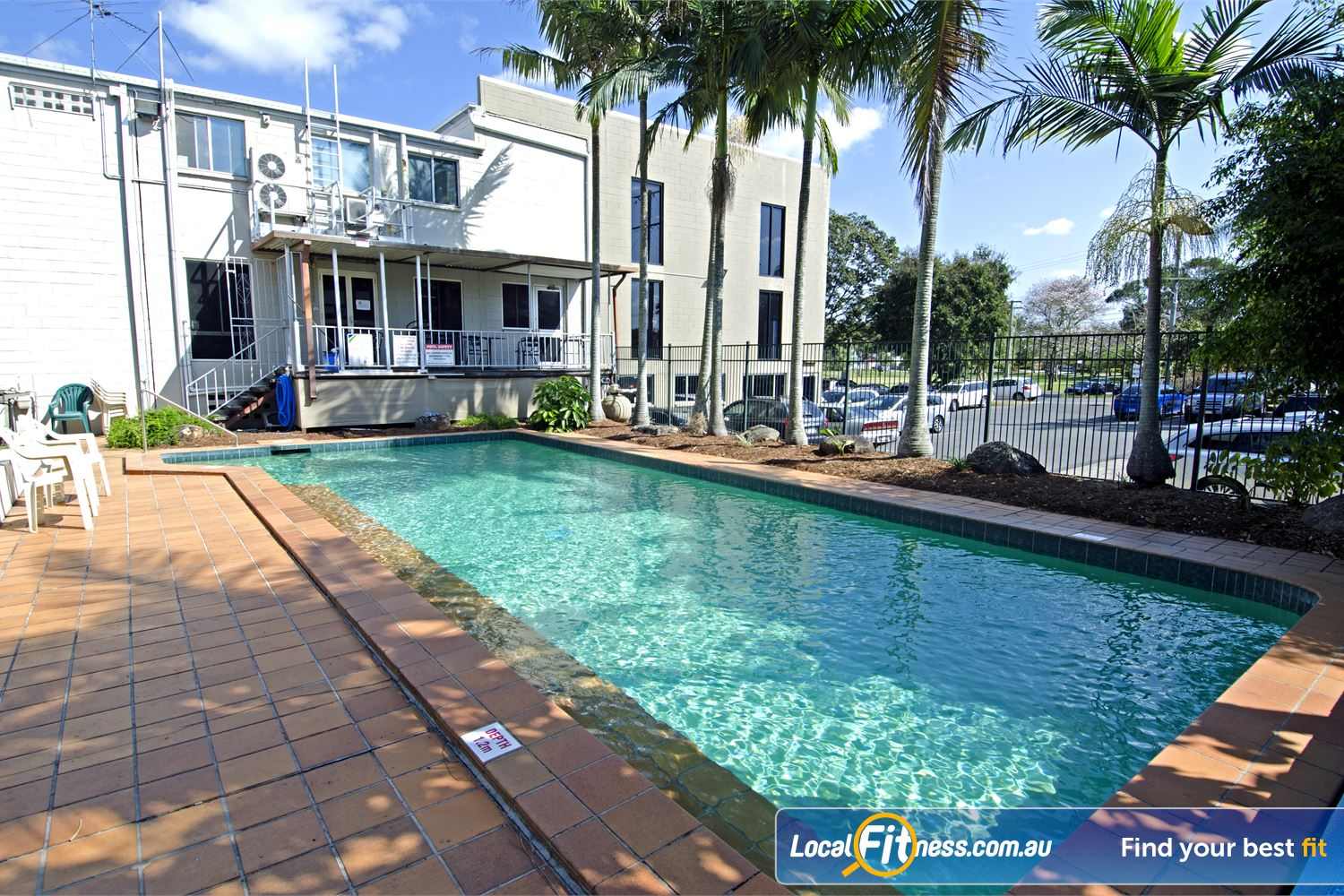 Goodlife Health Clubs Graceville The outdoor Graceville swimming pool.