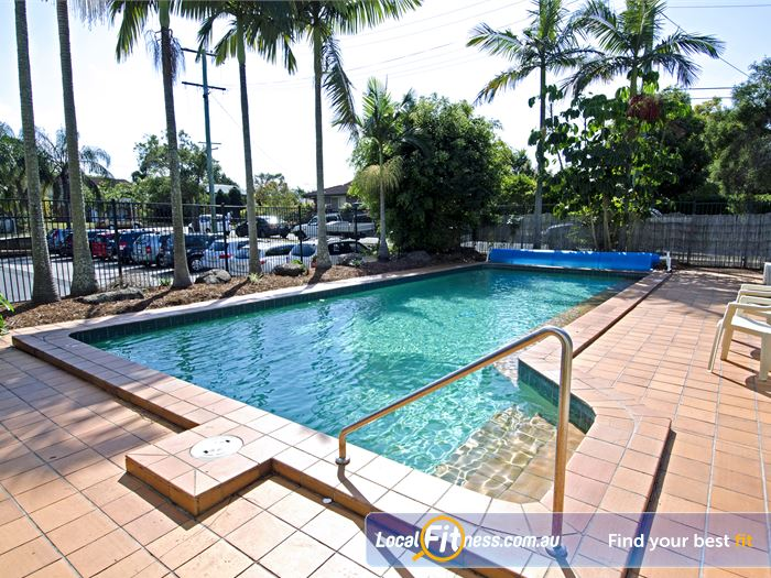 Goodlife Health Clubs Swimming Pool Kelvin Grove  | The Graceville swimming area provides a tropical palm