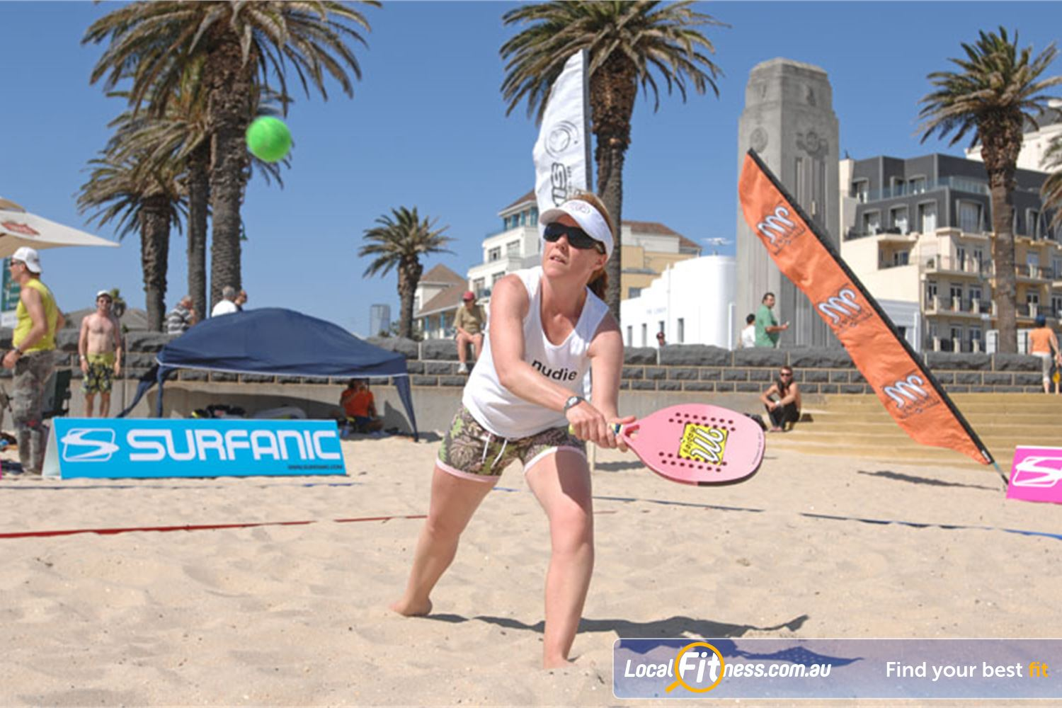 Goodlife Health Clubs Port Melbourne Join a Beach Tennis competition this summer in Port Melbourne.