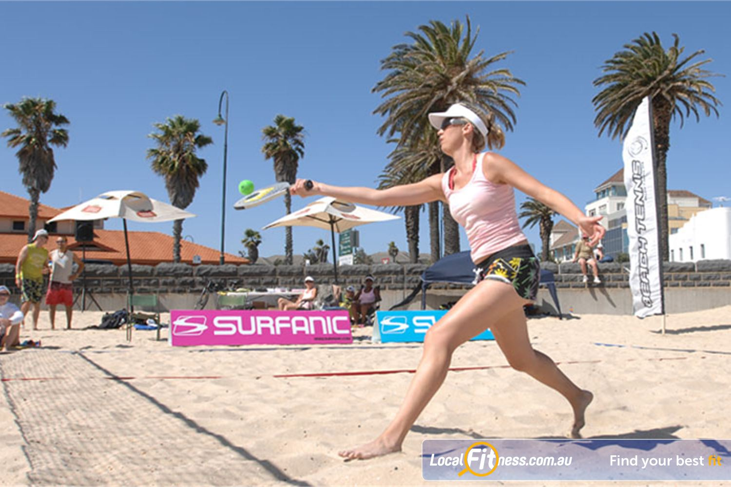 Goodlife Health Clubs Port Melbourne Passion and fun outdoors with Beach Tennis.