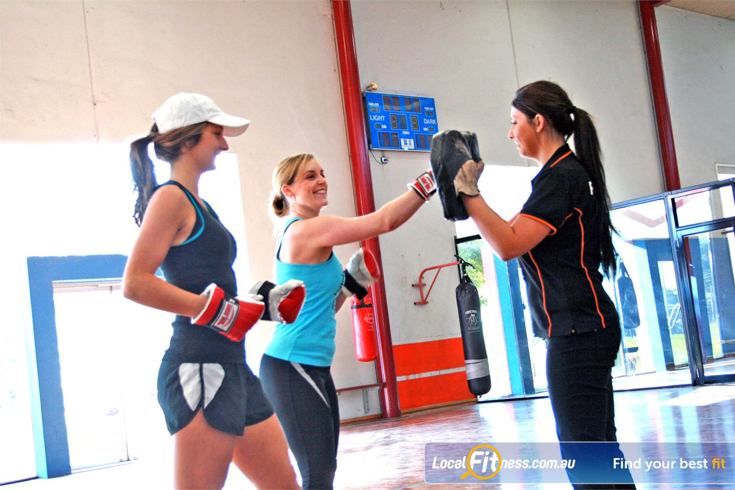 South Pacific Health Clubs Williamstown Basic Beginners Boxercise classes also available!