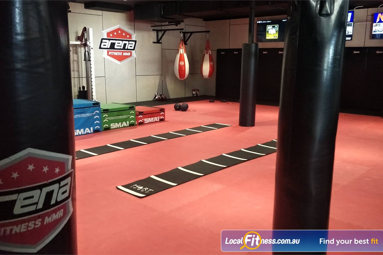 Goodlife Health Clubs Carindale Coach-led HIIT and functional training classes.