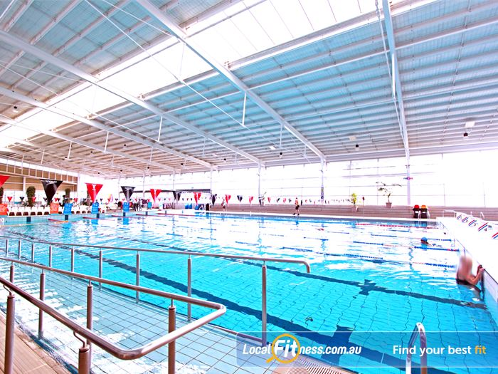Casey Arc Swimming Pool Waverley Park    Great accessibility features with ramp and railing.