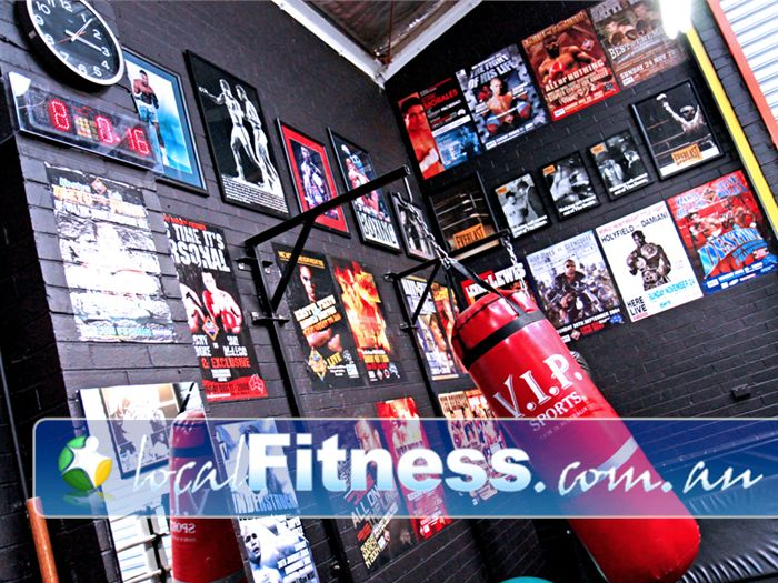 Doherty's Gym Brunswick Feel the atmosphere with the inspiring boxing wall of fame.
