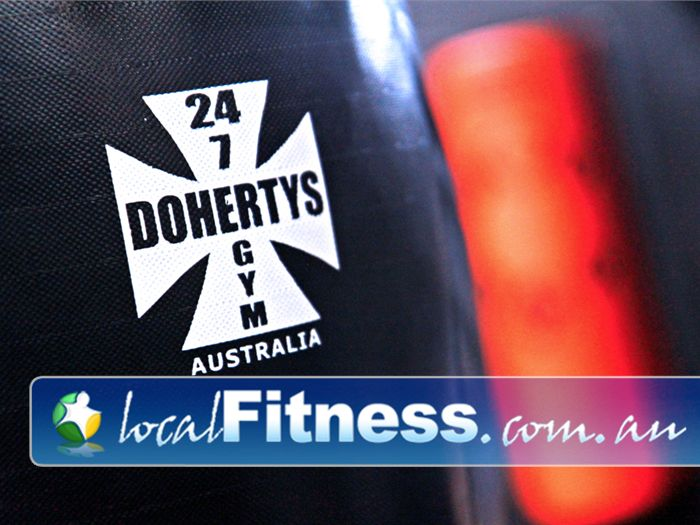 Doherty's Gym Brunswick Full range of heavy boxing bags.