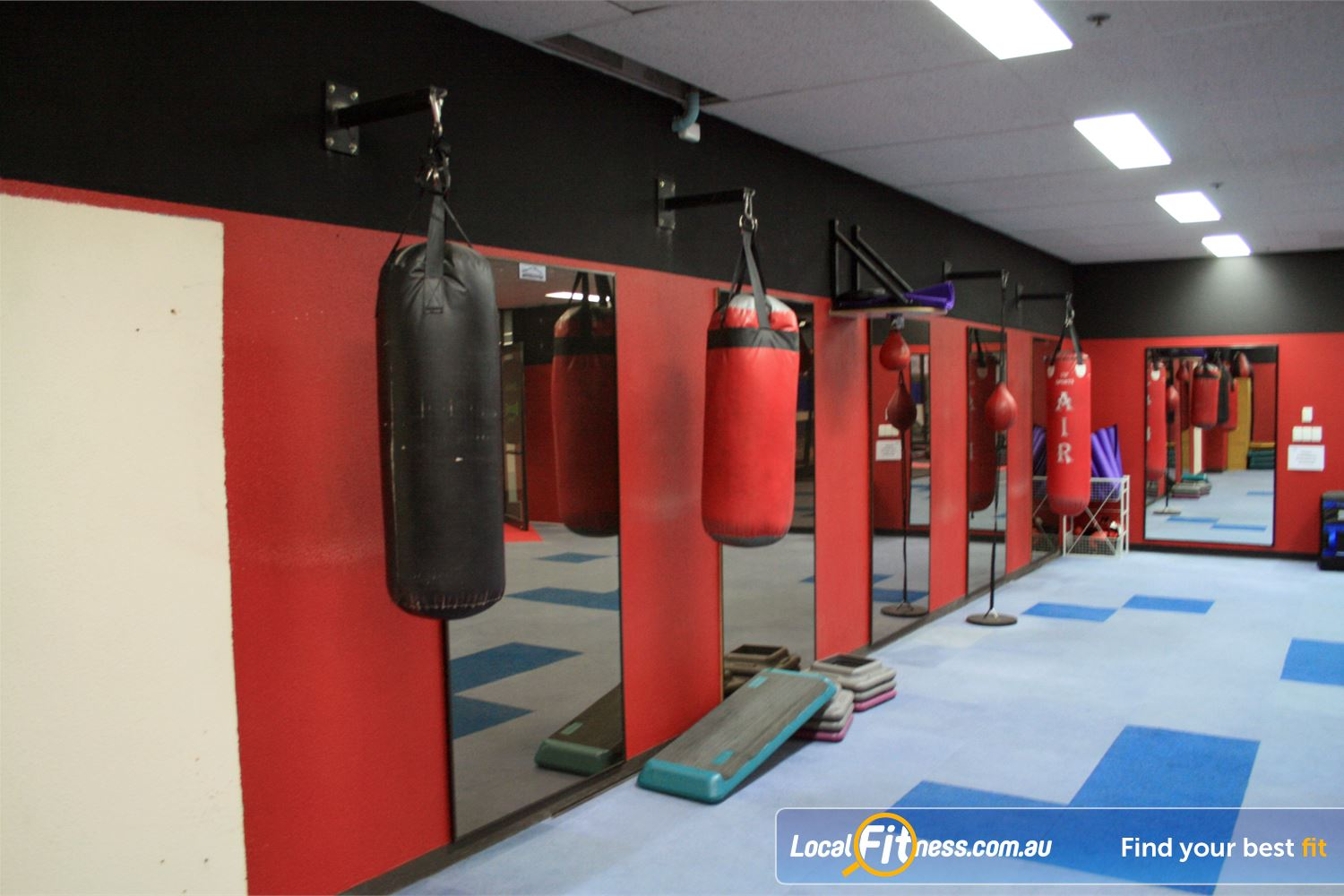 Docklands Gym & Squash Centre World Trade Centre Heavy bags, speed balls, floor-to-ceiling balls and more.