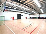 The Roxburgh Park indoor multi-purpose basketball court.