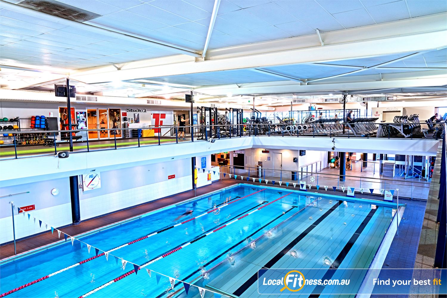 Fitness First Near Windsor Beautiful views from our gym of our Lutwyche swimming pool.