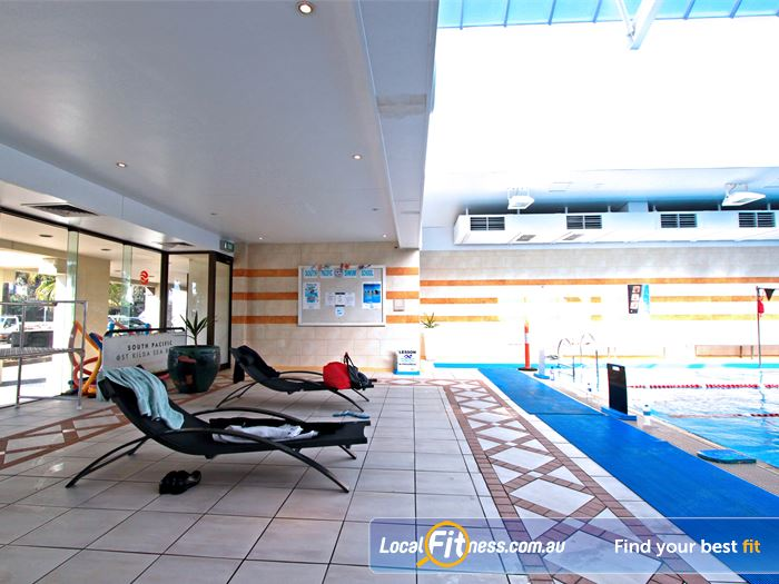 South Pacific Health Clubs Swimming Pool Melbourne  | Private members lounge area offering magnificent views of