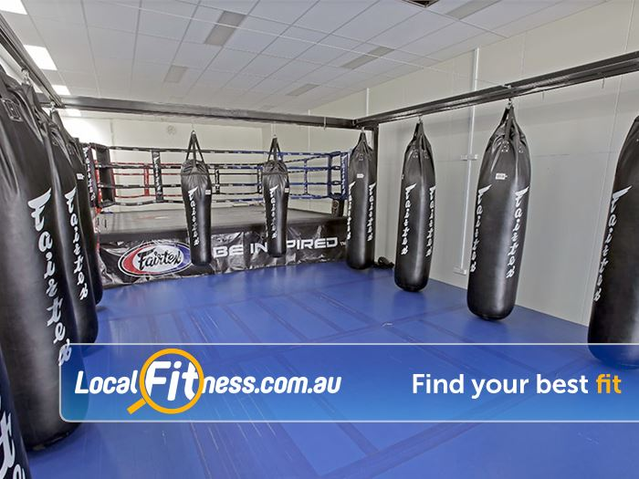 ENRG Fitness 24/7 Kilsyth Fully equipped combat training area for boxing, muay thai and more.