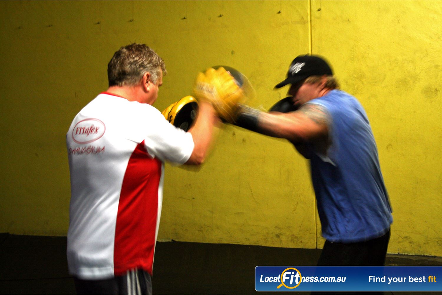 FITafex Gymnasium Near Essendon North Due some pad work with our Essendon boxing instructors.