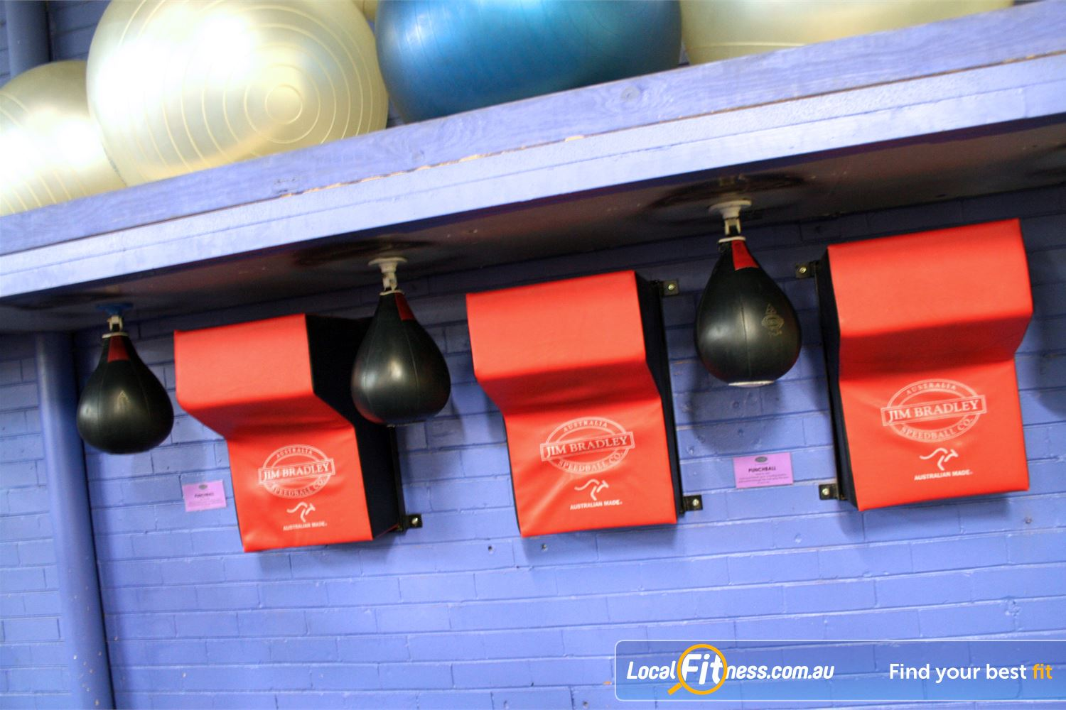 FITafex Gymnasium Near Niddrie Full range of speed balls and uppercut bags.
